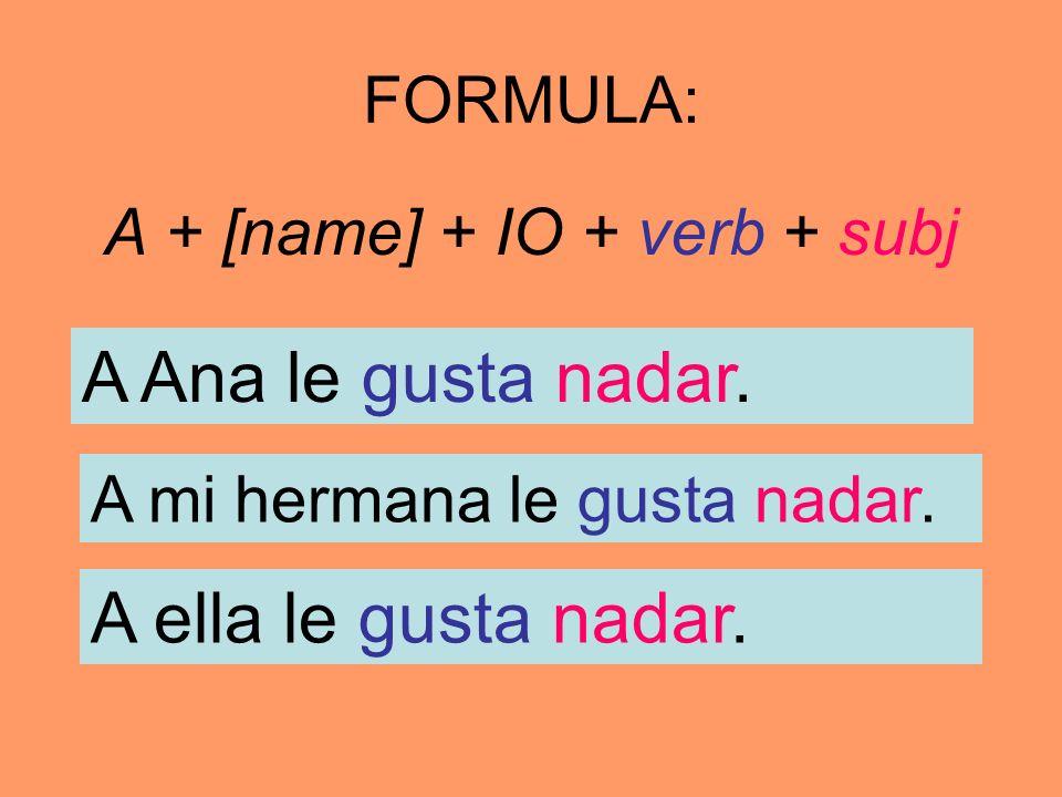 A + [name] + IO + verb + subj